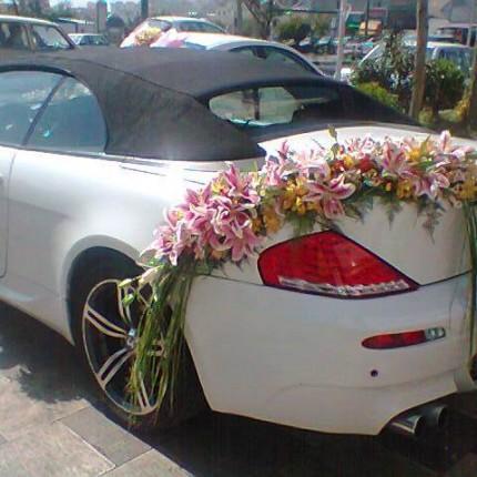 اجاره خودرو با گل ماشین عروس