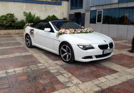اجاره ماشین عروس با گل بی ام و