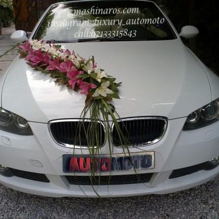 اجاره ماشین عروس با گل