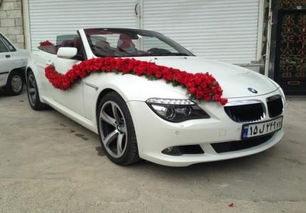 جدیدترین تزیین ماشین عروس در تهران bmw