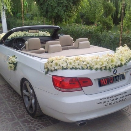 عکس ماشین عروس بی ام و