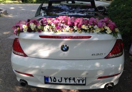 قیمت اجاره ماشین با گل لیلیوم صورتی