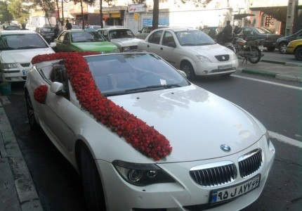 جدیدترین تزیین ماشین عروس در تهران 630