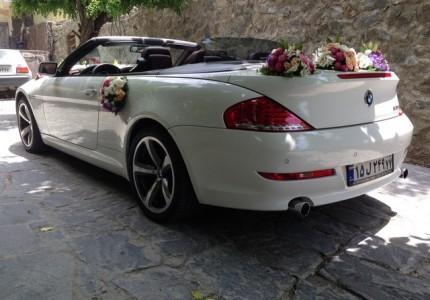 اجاره ماشین عروس با گل بی ام و 630 کروک