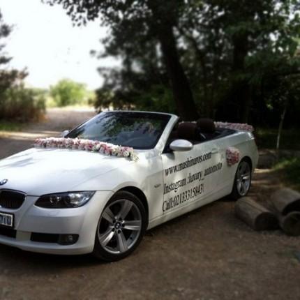 تزیین ماشین عروس با گل میخک بی او و