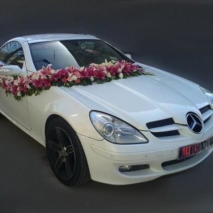 ماشین عروس 2017 با گل