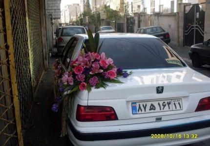 اجاره ماشین عروس با گل دنده ای