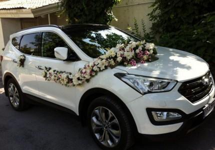 گل زدن ماشین عروس