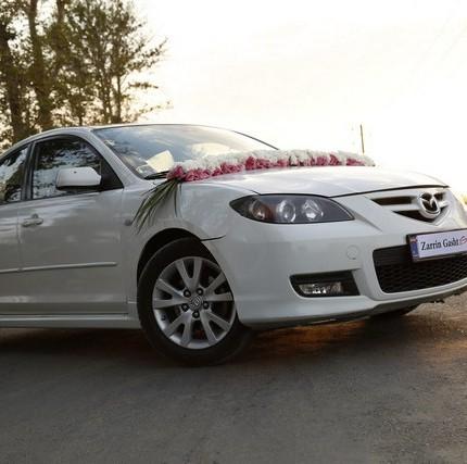 جدیدترین تزیین ماشین عروس در تهران مزدا۳