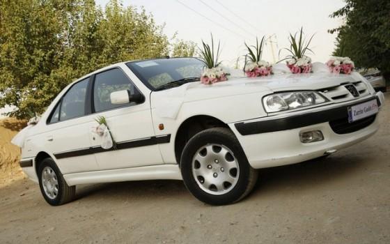a اجاره پرشیا برای ماشین عروس  قیمت کرایه اتومبیل
